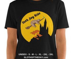 Amazing Halloween Joy Ride Sloth Halloween T-shirt