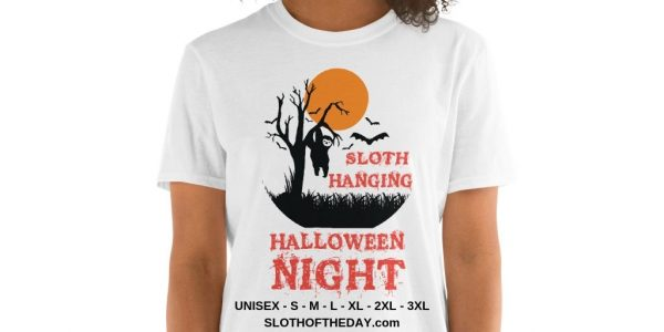 Apparitional Sloth Hanging Halloween Night T-Shirt