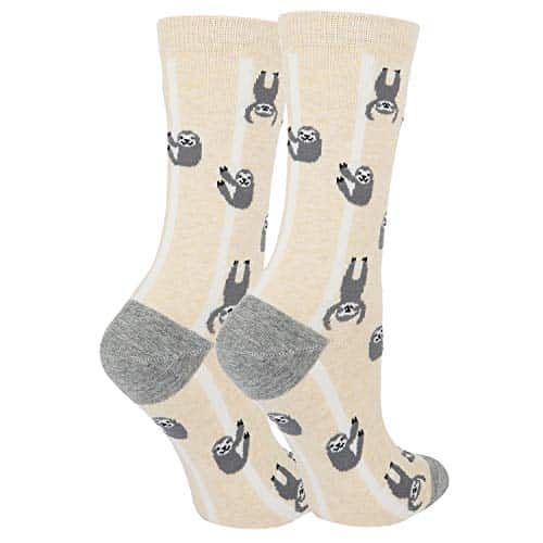 Brand New Funny Cute Lazy Sloth Cotton Crew Socks 2 Pack Sloth Socks