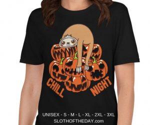 Cool Design Chill Sloth Halloween Night Sloth T-Shirt