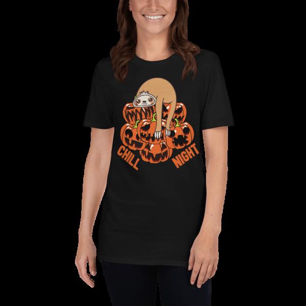 Cool Design Chill Sloth Halloween Night Sloth T-Shirt Black