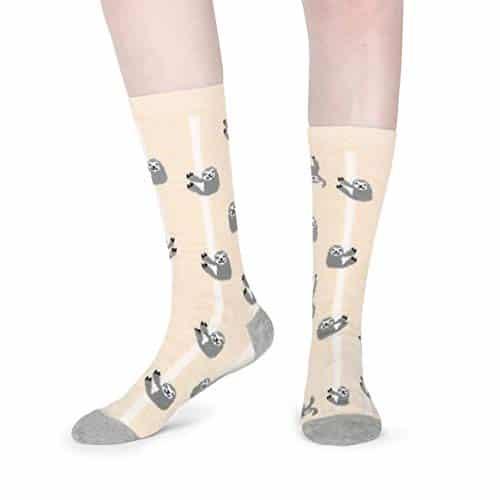 Cool Funny Cute Lazy Sloth Cotton Crew Socks 2 Pack Sloth Socks