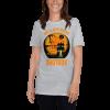 Cool Scary My Sloth Rides Shotgun Halloween T-shirt Women Sloth Shirt Grey