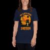 Cool Scary My Sloth Rides Shotgun Halloween T-shirt Women Sloth Shirt Navy
