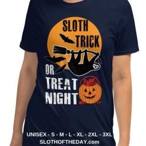 Cool-Women-Sloth-Trick-Or-Treat-Night-Sloth-Halloween-T-shirt