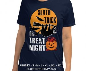 Sloth Trick Or Treat Night Sloth Halloween T-shirt