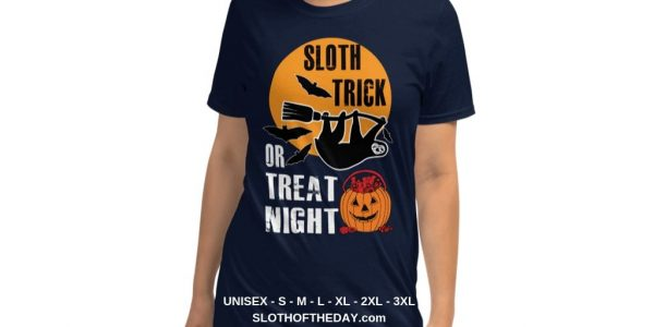 Cool Women Sloth Trick Or Treat Night Sloth Halloween T-shirt