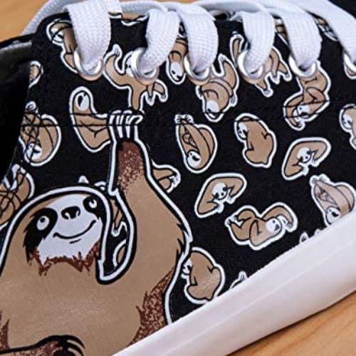 Cute Unisex Kids Sloth Sneakers Lowtop Sloth Tennis Shoe