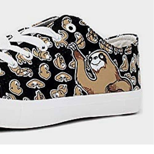 Cute Unisex Sloth Shoes for Kids Lowtop Sloth Tennis Shoe