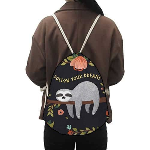 Fabulous Women Sloth Gym Sack Backpack for Women Feature