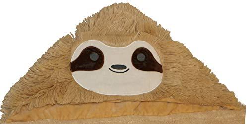 Funny Soft Sloth Wearable Warm Blanket with Hoodie Face