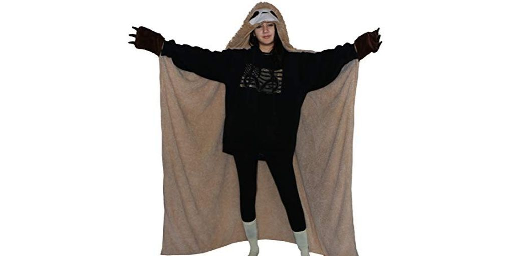 Funny Soft Sloth Wearable Warm Blanket with Hoodie