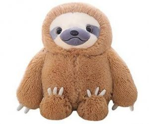 HUGE 19.7-inch Fluffy Sloth Stuffed Animal Toy Gift for Kids