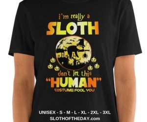Amusing I Am Really a Sloth Halloween T-shirt