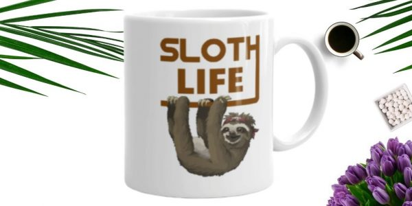 New Sloth Enjoying The Sloth Life Coffee Mug