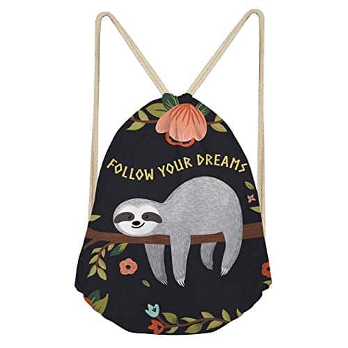 New Women Sloth Gym Sack Backpack for Women Feature