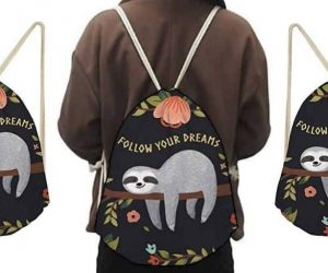 Amazing Women Sloth Gym Sack Backpack for Women