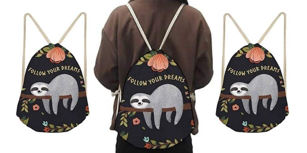 Nice Women Sloth Gym Sack Backpack for Women Feature