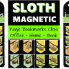 Set of 8 Sloth Magnetic Page Markers Sloths Bookmarks