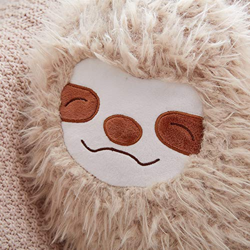 Sloth Face 16 Inch Cool Sloth Comfy Pillow Sloth Face Smiling