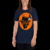 Sloth Flying Hauntingly Free Style Halloween T-shirt Sloth Navy Shirt