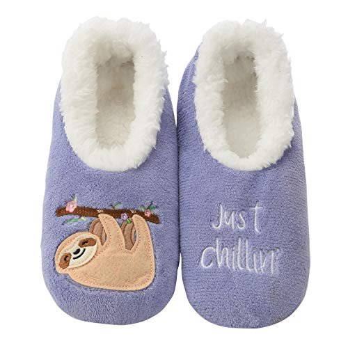 Snoozies Classic Cool Women Sloth Slipper Socks for Women Big