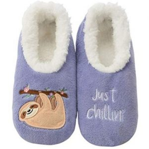 Snoozies Classic Cool Women Sloth Slipper Socks for Women Feature