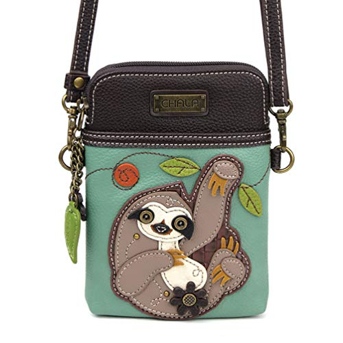 Cool Sloth Cross Body Cell Phone Purse for Women