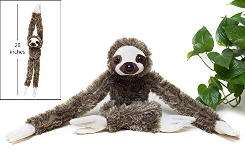 Adorable 28-inch Hanging Three-Toed Sloth Toy