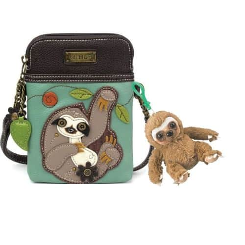 Adorable Clip Toy Stuffed Sloth Plush Backpack Keychain