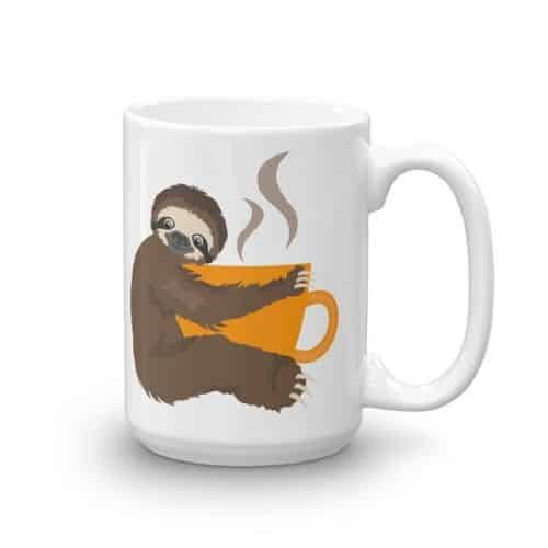 Adorable Sloth Coffee Time Ceramic Sloth Coffee Mug