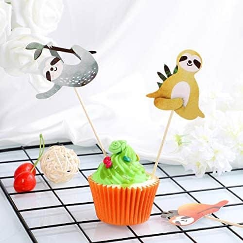Awesome Sloth Cake Toppers for Your Sloth Themed Party 4 Piece