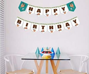 Sloth Happy Birthday Banner a Celebratory and Festive Decor