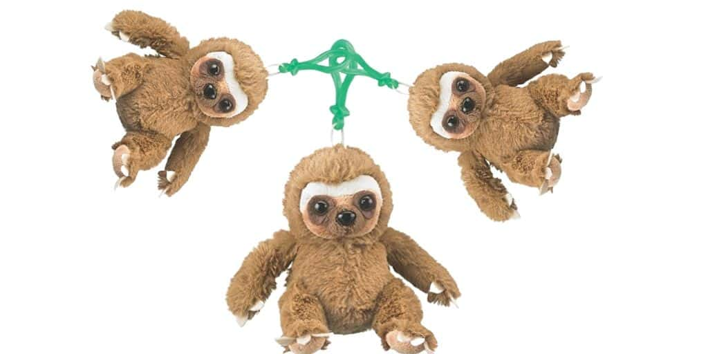 Clip Toy Stuffed Sloth Plush Backpack Keychain