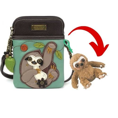 Clip Toy Stuffed Sloth Plush Purse Keychain