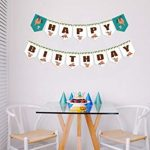 Cool Sloth Happy Birthday Banner a Celebratory and Festive Decor