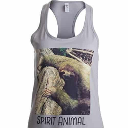 Cool and Cute Sloth Racerback Tank Top for Women