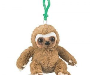 Adorable Clip Toy Stuffed Sloth Plush Backpack Keychain 5.5""