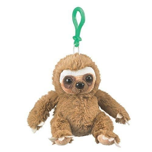 Cute Clip Toy Stuffed Sloth Plush Backpack Keychain