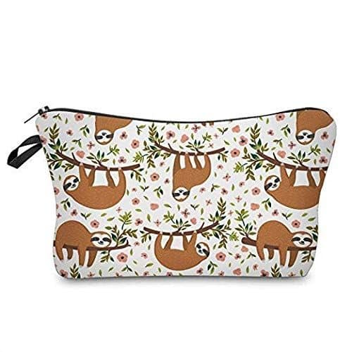 Cute Sloth Makeup Pouches Set of 3