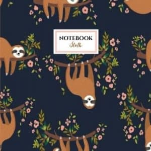 Cute and Delightful Sloth Large Notebook