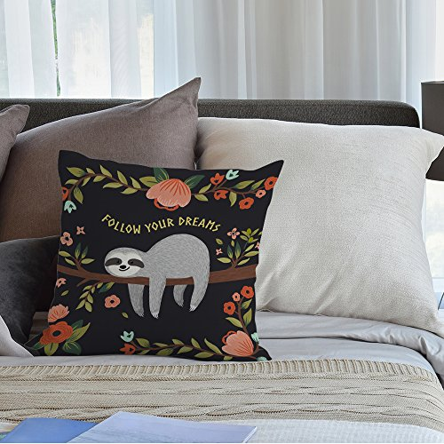 New Sloth Follow Your Dream Throw Pillow Home Decor