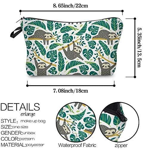 New Sloth Makeup Pouches Set of 3