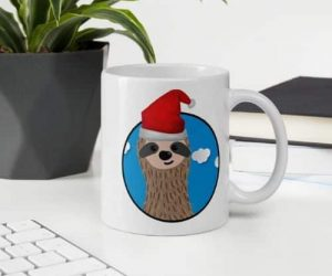 Get Ready for the Special Santa Sloth Coffee Cup