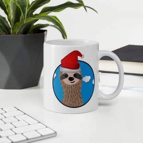 Santa Sloth Cup of Coffee