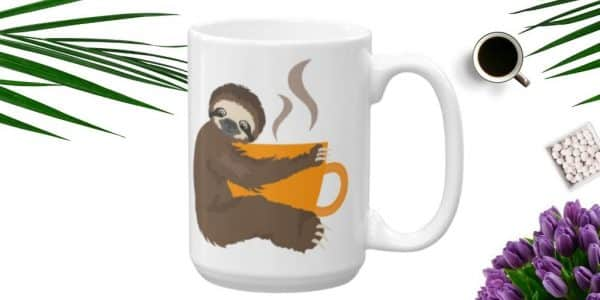Sloth Coffee Time Ceramic Sloth Coffee Mug