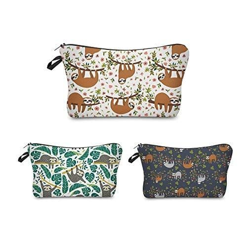 Sloth Makeup Pouches Set of 3