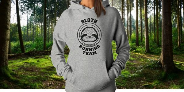 Special Warm and Cozy Sloth Running Team Hoodie for Women Feature