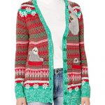 Super Warm Cool Sloth Christmas Cardigan for Women