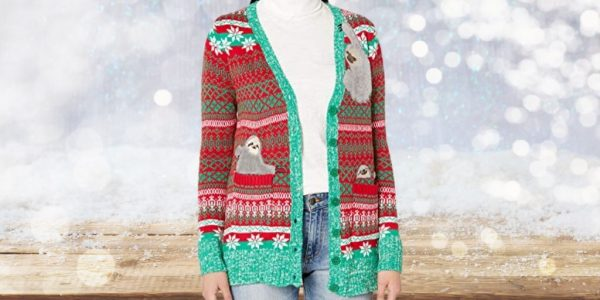 Super Warm Sloth Christmas Cardigan for Women